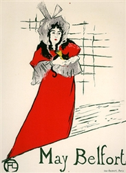 Toulouse lautrec may belfort vintage french poster for Divan japonais poster value