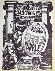 Deep Purple Original Concert Handbill Vintage Rock Poster
